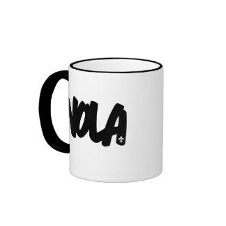 NOLA Letters Ringer Mug
