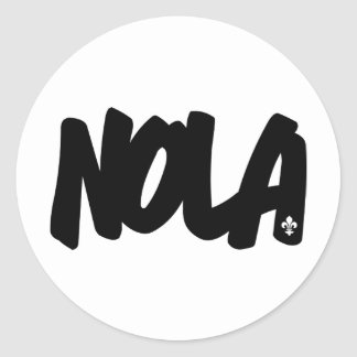 NOLA Letters Round Stickers