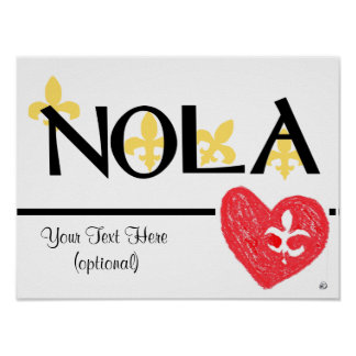 NOLA Love de Lis poster