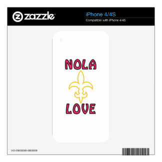 Nola Love Skins For iPhone 4S