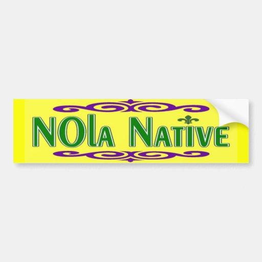 NOLa Native Car Bumper Sticker