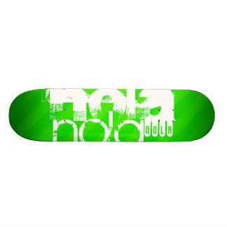 NOLA; Neon Green Stripes Skateboard Deck