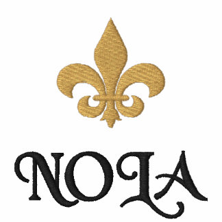 NOLA  New Orleans Fleur De Lis Embroidered Polo Shirts