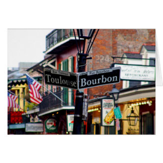 NOLA NEW ORLEANS LOUISIANA DESIGNS CARD