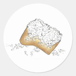 NOLA New Orleans Louisiana Sugary Beignet Pastry Classic Round Sticker