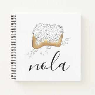 NOLA New Orleans Louisiana Sugary Beignet Pastry Notebook