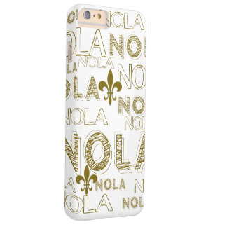 NOLA NOLA NOLA Gold Fleur-de-lis Barely There iPhone 6 Plus Case