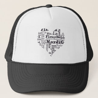 Nola Original Typography Heart Trucker Hat