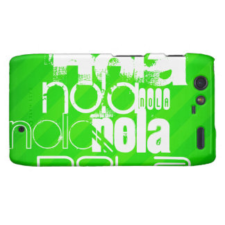 NOLA; Rayas verdes de neón Droid RAZR Funda