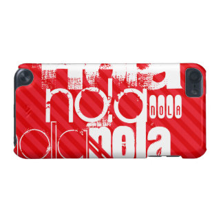 Nola; Scarlet Red Stripes iPod Touch (5th Generation) Cover