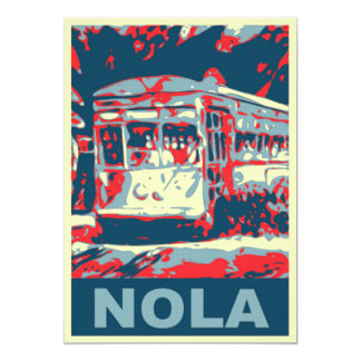 NOLA Streetcar Red and Blue Card