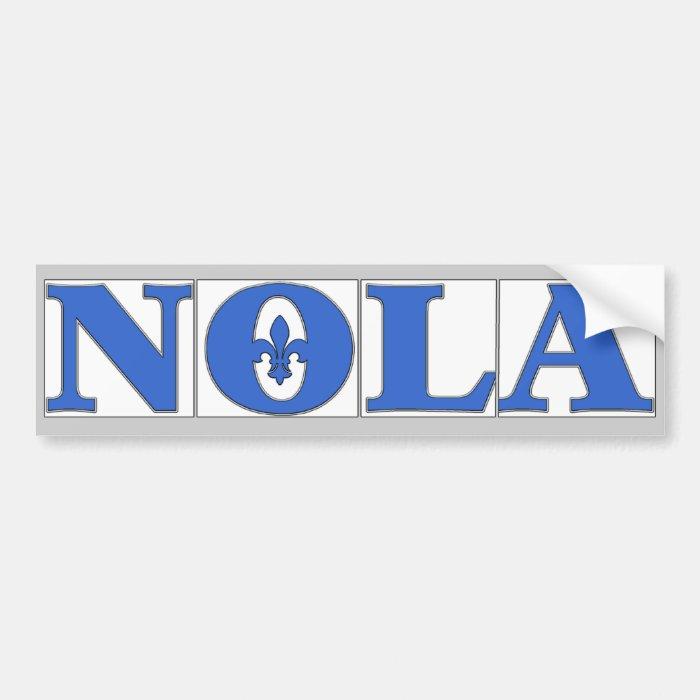 NOLA TIles Fleur Bumper Sticker
