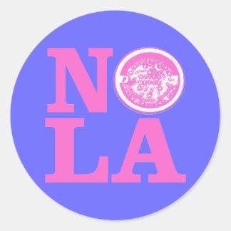 NOLa Water Meter Classic Round Sticker