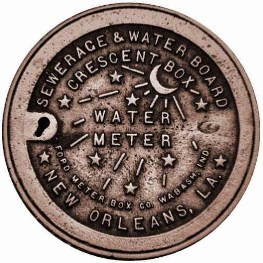 NOLa Water Meter Cover Acrylic Cut Out