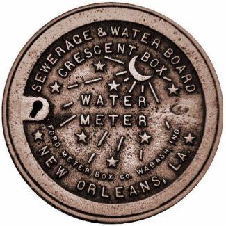 NOLa Water Meter Cover photosculpture