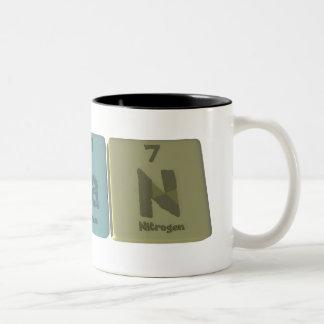 Nolan as Nobelium Lanthanum Nitrogen Two-Tone Coffee Mug