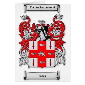 Nolan Coat of Arms Card