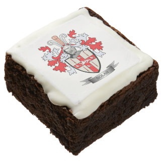 Nolan Coat of Arms Chocolate Brownie