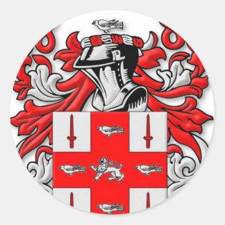 Nolan Coat of Arms Classic Round Sticker