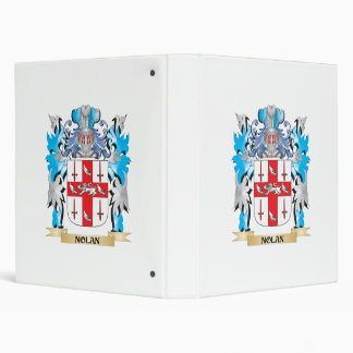 Nolan Coat of Arms - Family Crest 3 Ring Binders