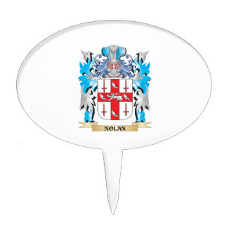 Nolan Coat of Arms - Family Crest Cake Topper