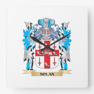 Nolan Coat of Arms - Family Crest Square Wall Clock