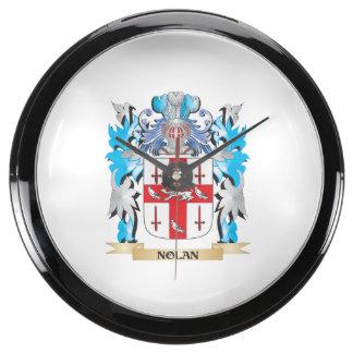 Nolan Coat of Arms - Family Crest Fish Tank Clock
