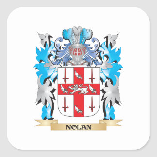Nolan Coat of Arms - Family Crest Square Sticker