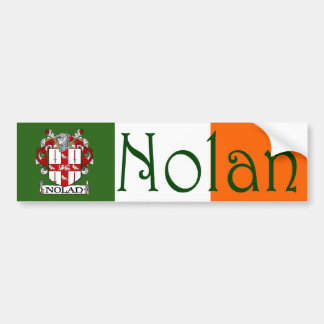 Nolan Coat of Arms Flag Bumper Sticker