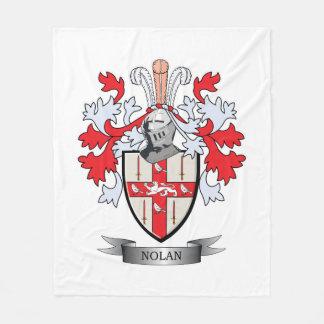 Nolan Coat of Arms Fleece Blanket