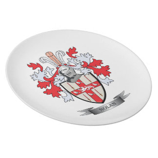 Nolan Coat of Arms Melamine Plate