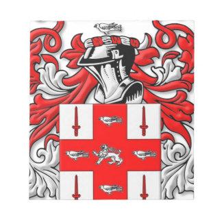 Nolan Coat of Arms Memo Pad