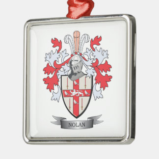 Nolan Coat of Arms Metal Ornament