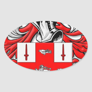 Nolan Coat of Arms Oval Sticker