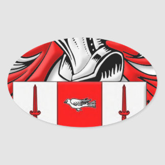 Nolan Coat of Arms Oval Stickers