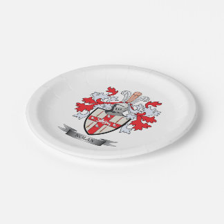 Nolan Coat of Arms Paper Plate