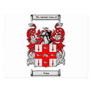 Nolan Coat of Arms Postcard