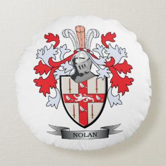 Nolan Coat of Arms Round Pillow
