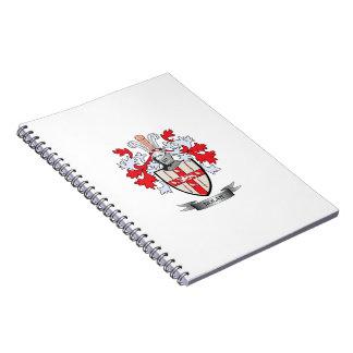 Nolan Coat of Arms Spiral Notebook