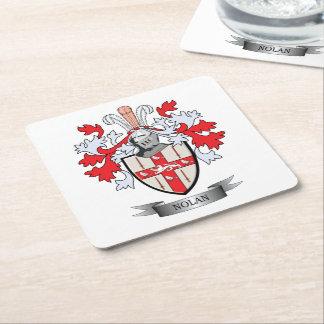 Nolan Coat of Arms Square Paper Coaster