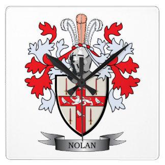 Nolan Coat of Arms Square Wall Clock