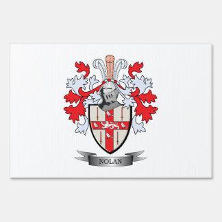 Nolan Coat of Arms Yard Sign