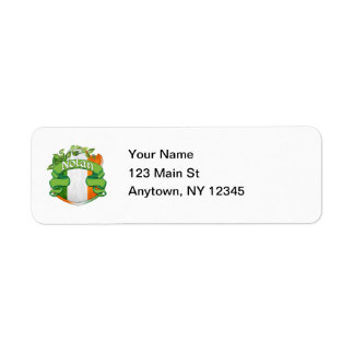 Nolan Irish Shield Label