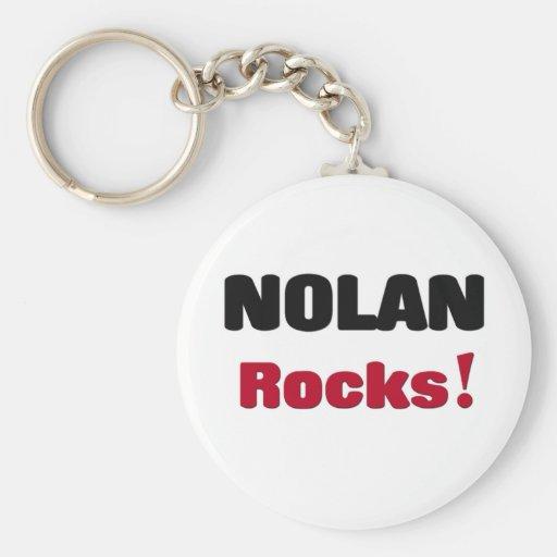 Nolan Rocks Basic Round Button Keychain
