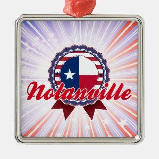 Nolanville, TX Square Metal Christmas Ornament