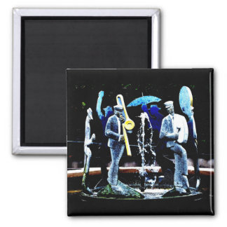 """NOLA's Fountain Boys"" JTG Art Magnet"