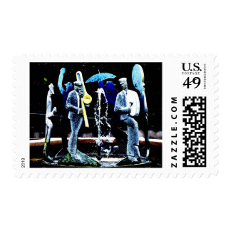 """NOLA's Fountain Boys"" JTG Art Postage Stamp"