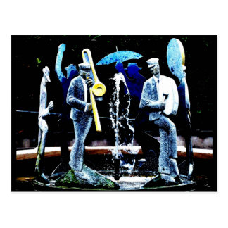 """NOLA's Fountain Boys"" JTG Art Postcard"