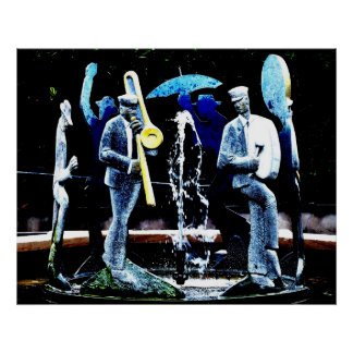 """NOLA's Fountain Boys"" JTG Art Poster"