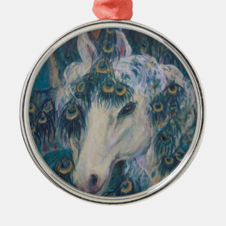 Nola's Unicorn Metal Ornament